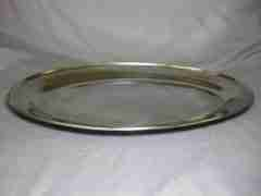 Plateau oval stainless 13″ X 21″