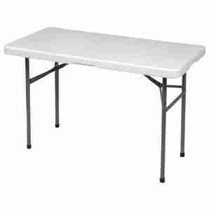 "Table pliante 24"" X 4' plastique"