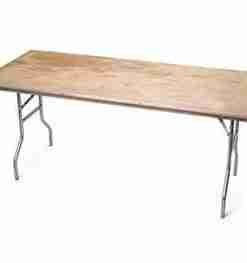 "Table pliante 30"" X 6'"