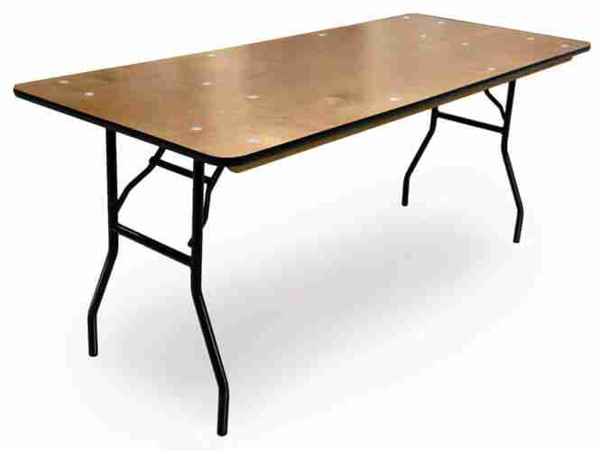 "Table pliante 30"" X 8'"